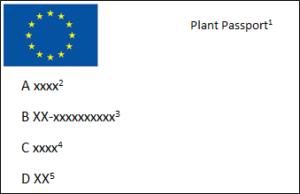 Schema del nuovo passaporto delle piante